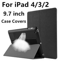 Case For Apple IPad 4 IPad3 IPad2 Protective Smart Cover Protector Leather PU Tablet For IPad4