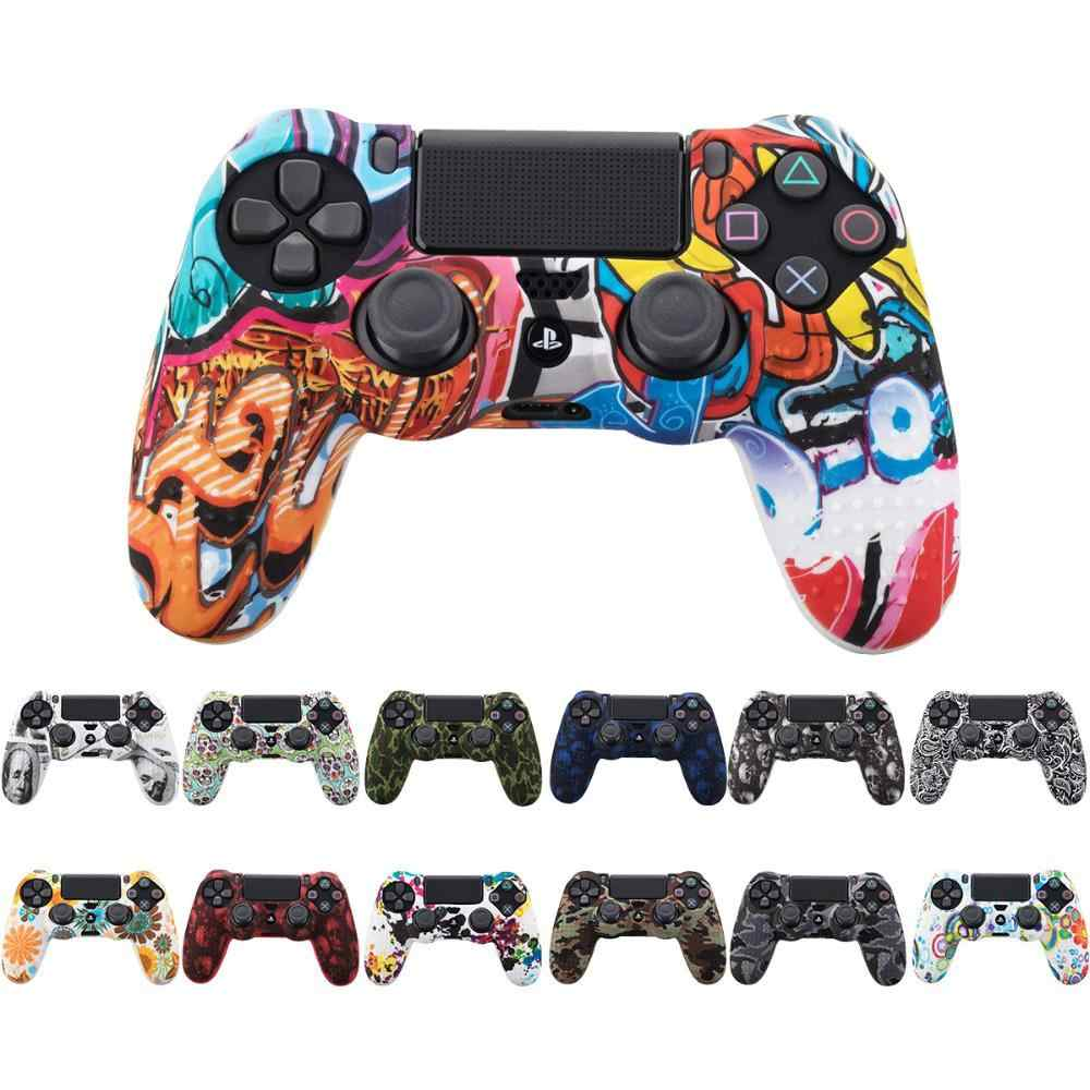 For Playstation 4 Slim/Pro Controller Sticker Decal Camouflage Case Silicone Skin Stickers Gamepad Cover for PS4 Controller