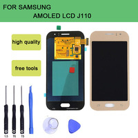 SZHAIYU Tested AMOLED LCD Display + Color Touch Screen For Samsung Galaxy J1 Ace J110F J110H J110F J110FM LCD Display