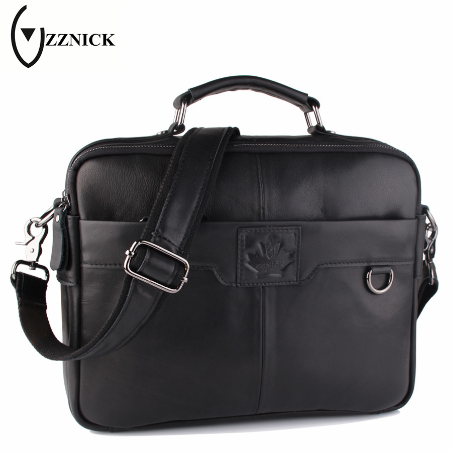 ZZNICK Business Genuine Leather Bag Casual Men Handbags Cowhide Men Crossbody Bag Men's Travel Bags Laptop Briefcase Bag for Man mva genuine leather men bag business briefcase messenger handbags men crossbody bags men s travel laptop bag shoulder tote bags