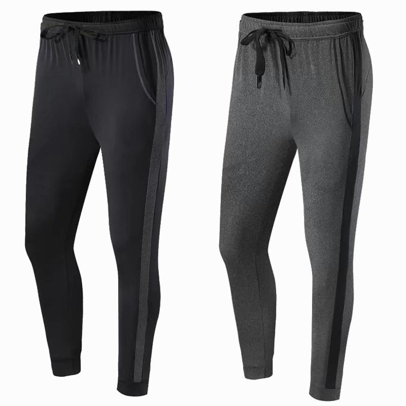 Summer Jogging Pants Running Pants Men Fitness Gym Leggings Sport Trousers Mens Football Soccer Sports Training elastic Pants цена