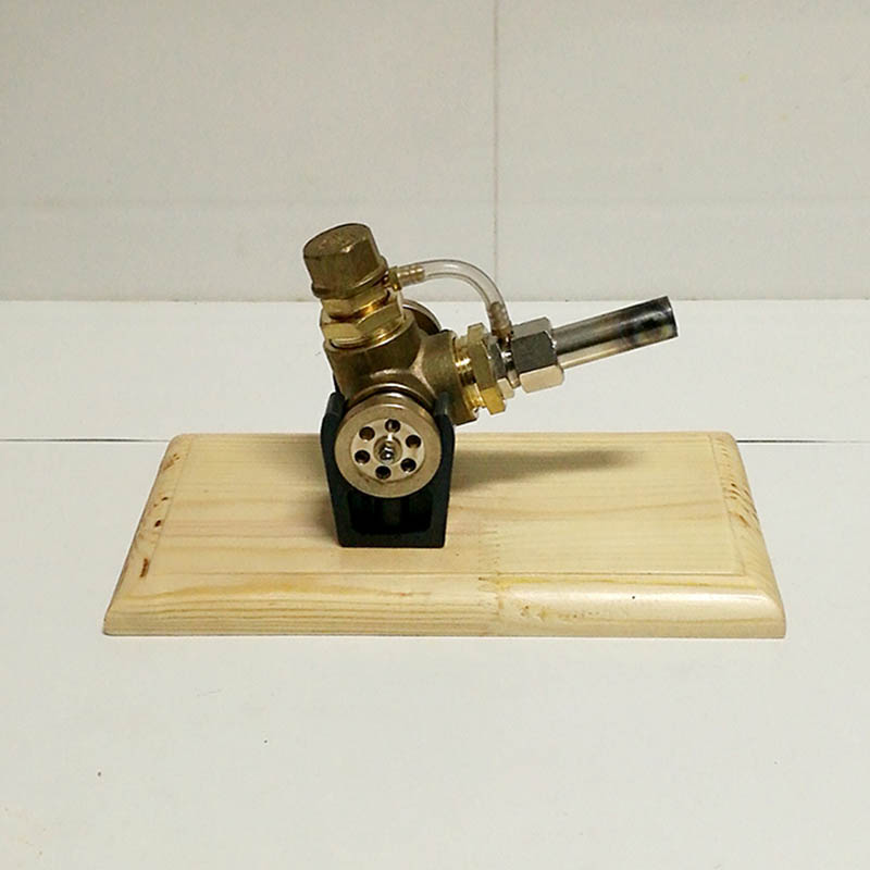 All-copper V single-heater Sterling engine Send copper alcohol lamp Experimental engine Birthday gift Sterling engine model engine oil engine mini engine model hit and miss engine send friend birthday gift