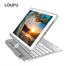 Loufu Cover For iPad Air 2 Keyboard Case Hard Covers Bluetooth Wireless Backlit Keyboards 9.7 Pro 2018