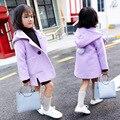 El Nuevo 2016 la Edición de han Niño Cruzado Chica Abrigo de Invierno Chaquetas Niños Abrigo Ropa de Bebé