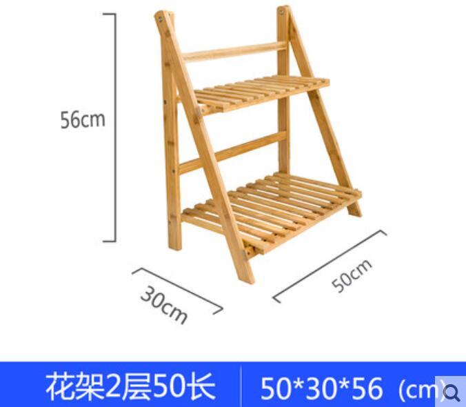 ⑧50x30x56 cm ecológico de bambú plegable pergolas de dos capas ...
