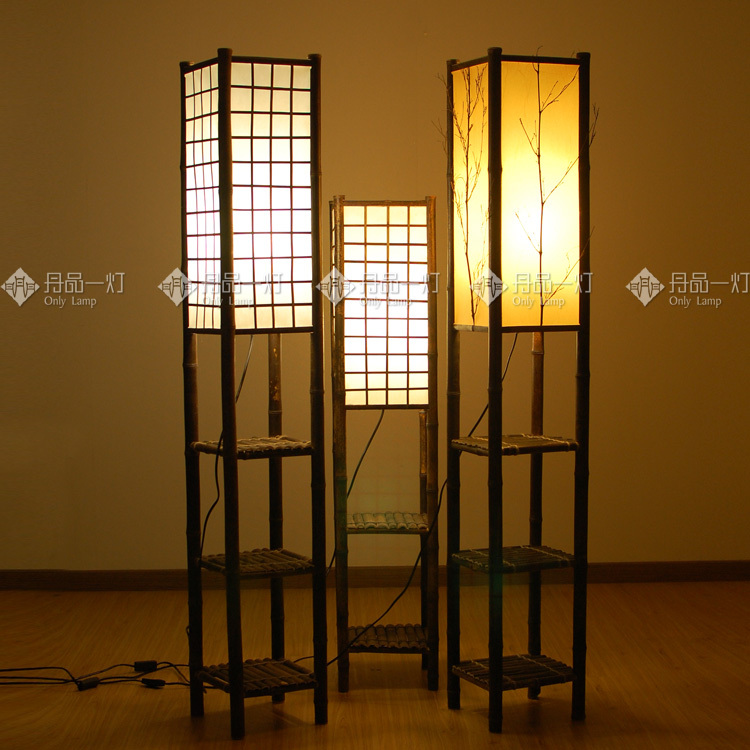 Frame Plaid Japanese Teahouse Floor Lamps Southeast Hotel Living