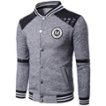 2017 Brand Mens Hoodies Baseball Sweatshirt Brushed Baseball Sudaderas Letter LOGO Baseball Collar 2 Color Avaliable MT317