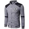 2017 Brand Mens Hoodies Baseball Sweatshirt Brushed Baseball Sudaderas Letter LOGO Baseball Collar 2 Color Avaliable MT317