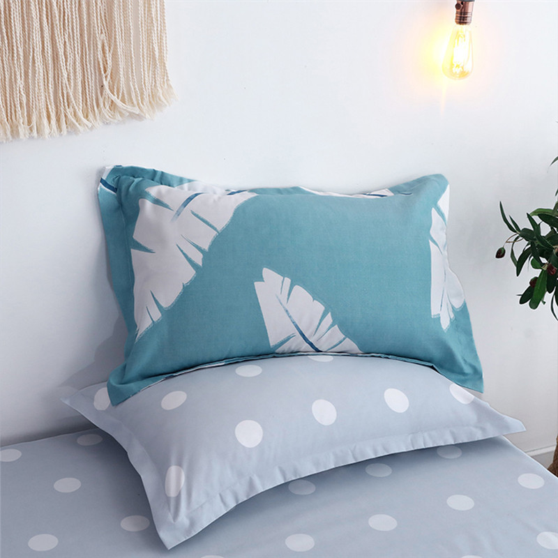 Image 2 - Four Piece Quilt Cover, Full Size Pillowcase With Fallen Leaves Sky Blue motifs infused with modern concepts  fitted sheet set-in Bedding Sets from Home & Garden