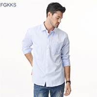 2017 New Spring Brand Solid Color Shirt Men Fashion Male Shirt Long Sleeve Business Dress Shirts