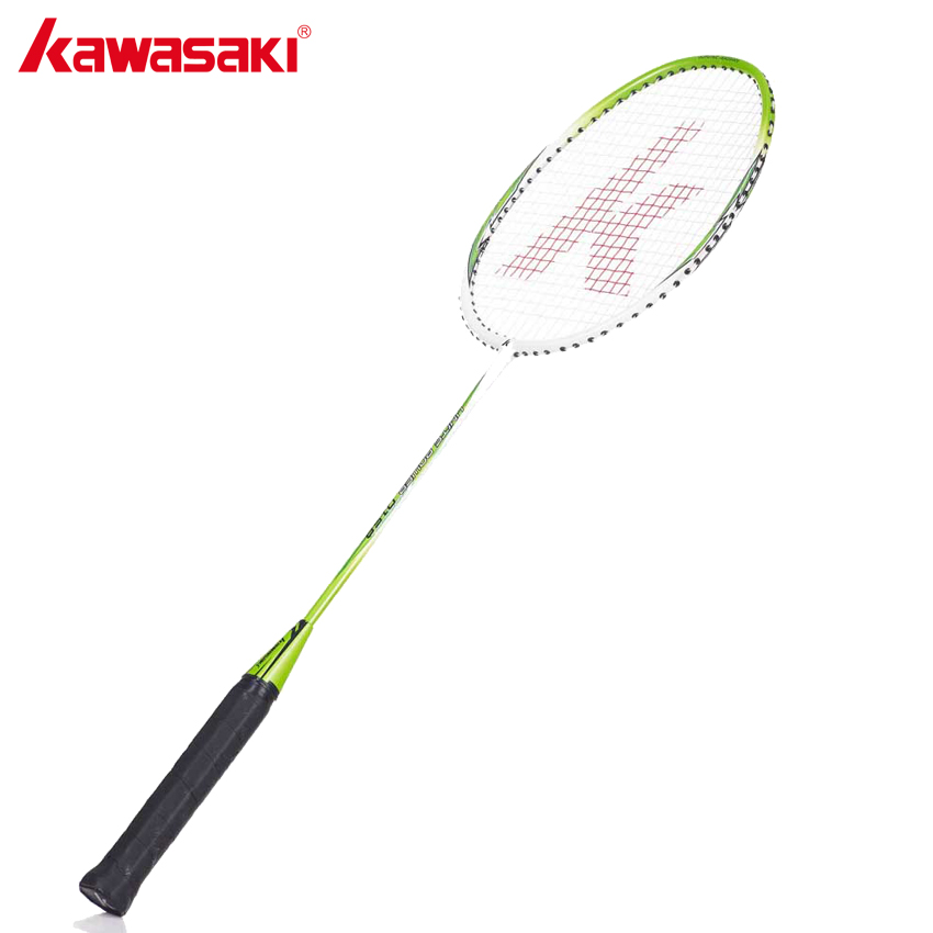 Raquettes de Badminton en aluminium légères de marque KAWASAKI 1U avec ficelle pour divertissement Amateur Junior UP-0158