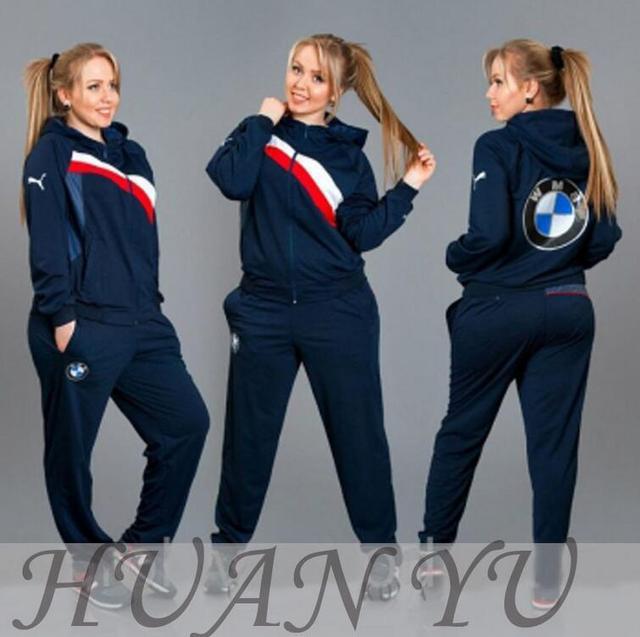 new High quality women Sport suit BMW design 2 piece set