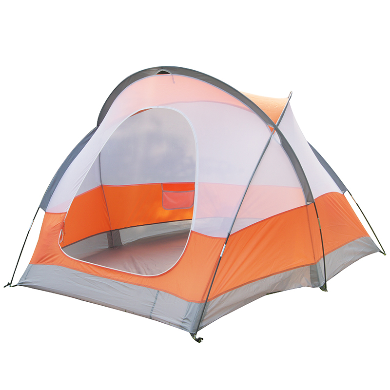 Outdoor Two Layers Outdoor Camping Tent 3-4 Person Breathable Waterproof Tents 190T Polyester 3 Season Windproof Hiking Tent high quality waterproof oxford fabric double layers tent large space 6 8 person 4 season outdoor travel camping hiking tent