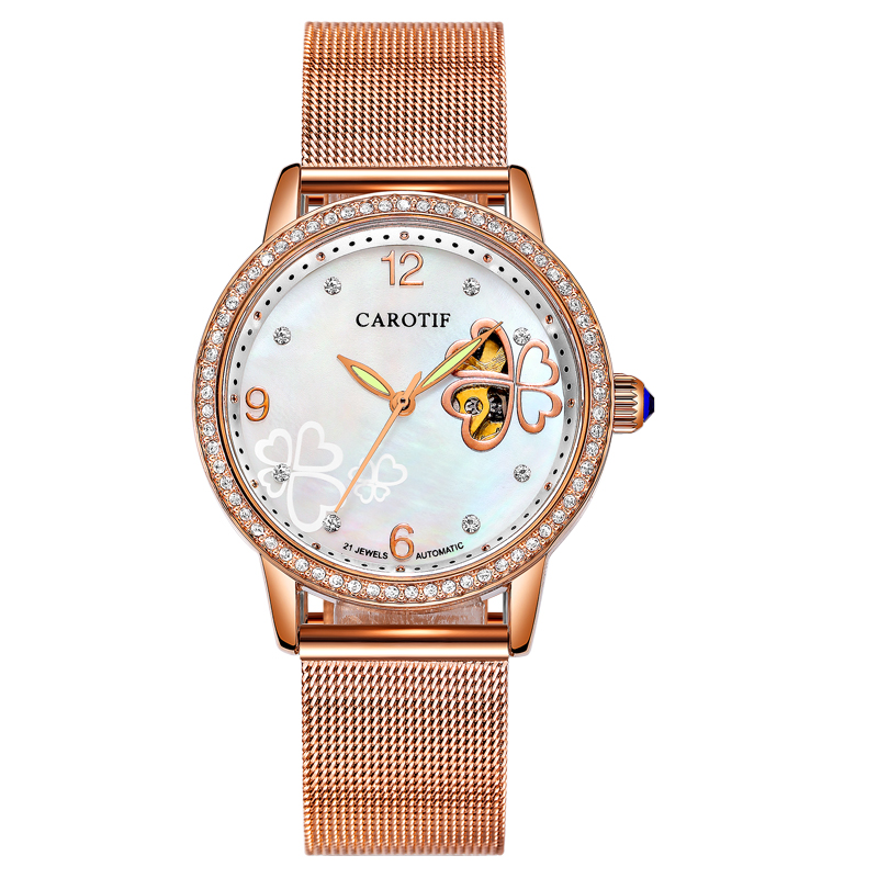 Carotif Fashion automatische mechanische horloges dames - Dameshorloges - Foto 4