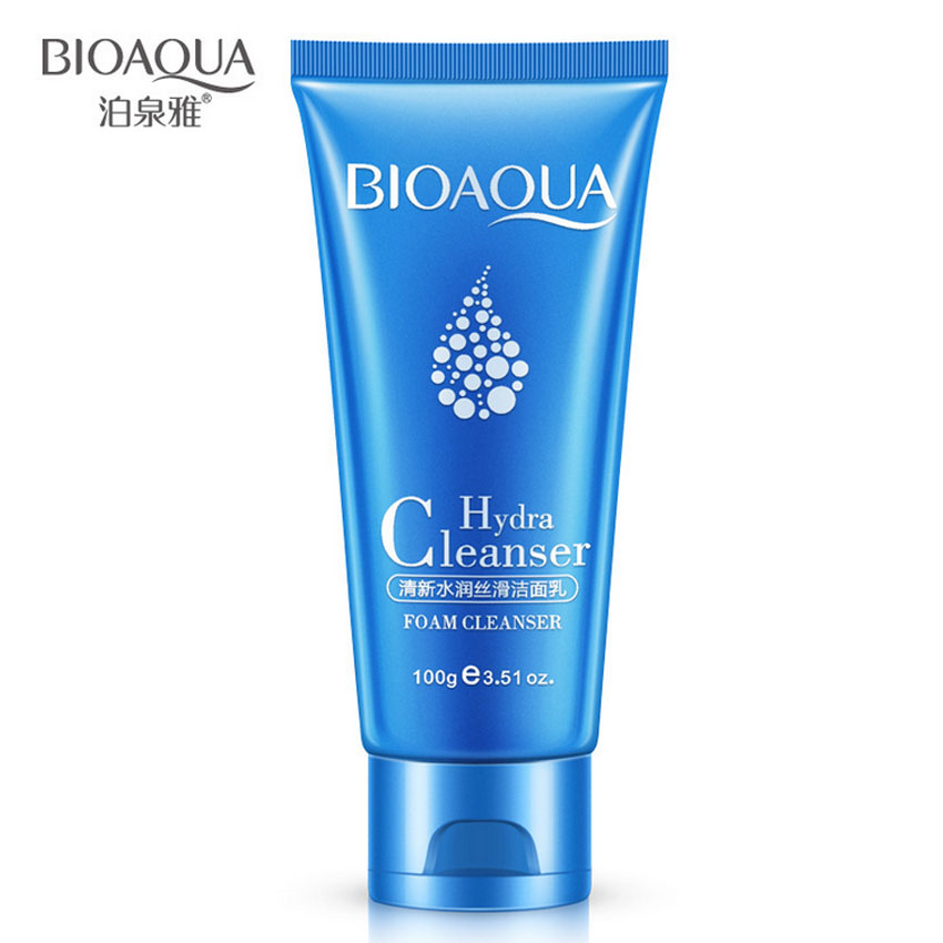 купить BIOAQUA Hydra Cleanser Foam Cleanser Cleaning Face Washing Products Face Skin Care Moisturizing Oil Control Skin Facial Cleanser по цене 317.83 рублей