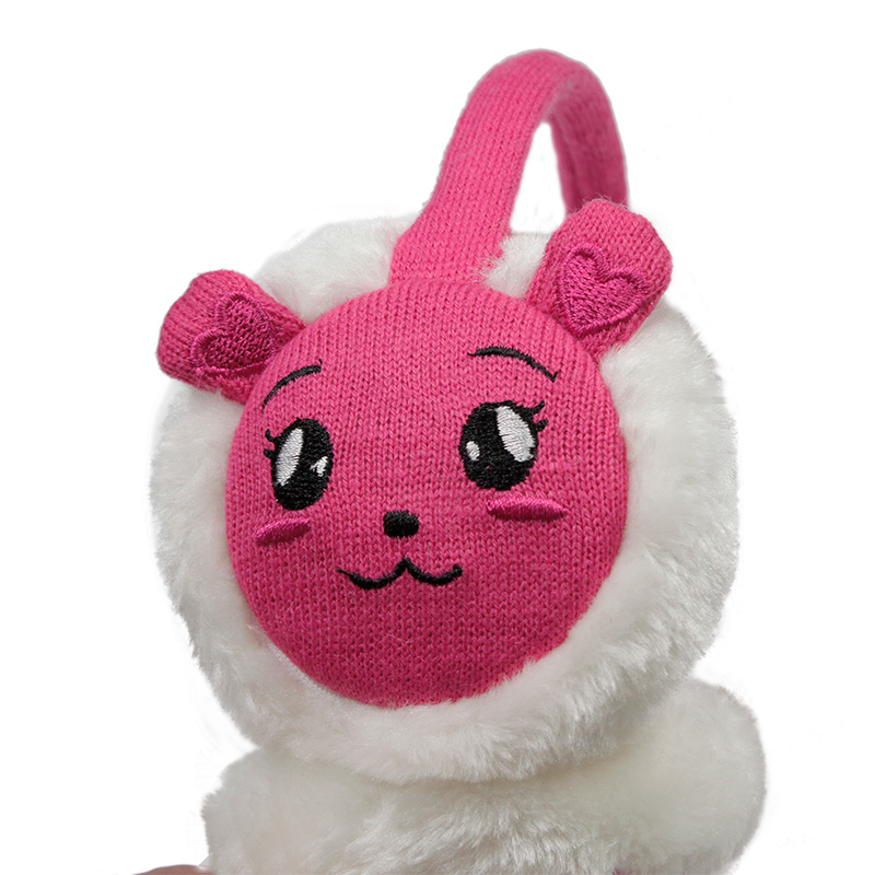 มาใหม่แฟชั่นฤดูหนาวปิดหูกันหนาวร้อนโปรโมชั่นกระต่ายขนEarflapsสำหรับเด็กKM-6967 Peach Blow