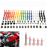 HOT Universal Motorcycle Fairing Body Bolts Spire Screw Spring Nuts FOR YAMAHA Smax Majesty Zuma 50F