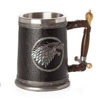 Game of Thrones Stark Direwolf Coffee Mugs Stainless Steel Resin Cups and Mugs Creative Beer Drinkware Mark