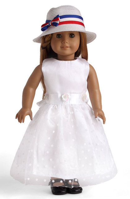 White Color American Girl Doll Clothes of Party Dress Doll clothes ...