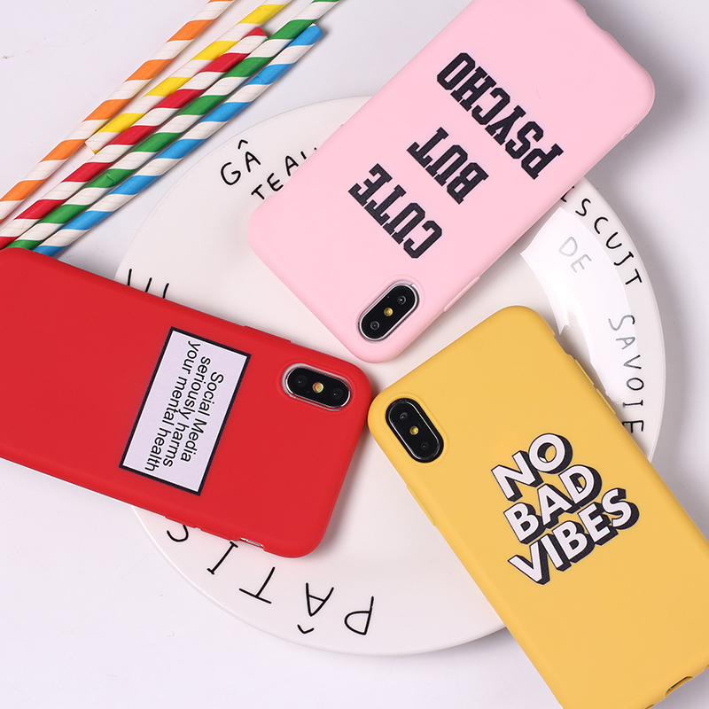 For <font><b>iPhone</b></font> 11 6S 5S SE 8 8Plus X XS Max 7 7Plus Happy Lucky Sunshine Tropical <font><b>Funny</b></font> Quote Cute Soft Silicone Candy <font><b>Case</b></font> Coque image