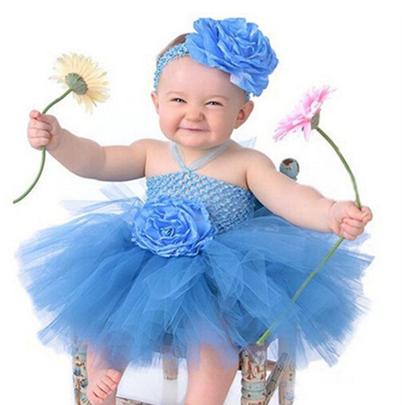 Cute Baby Girls Crochet Flower Tutu Dress Girls Fluffy ... - photo #35