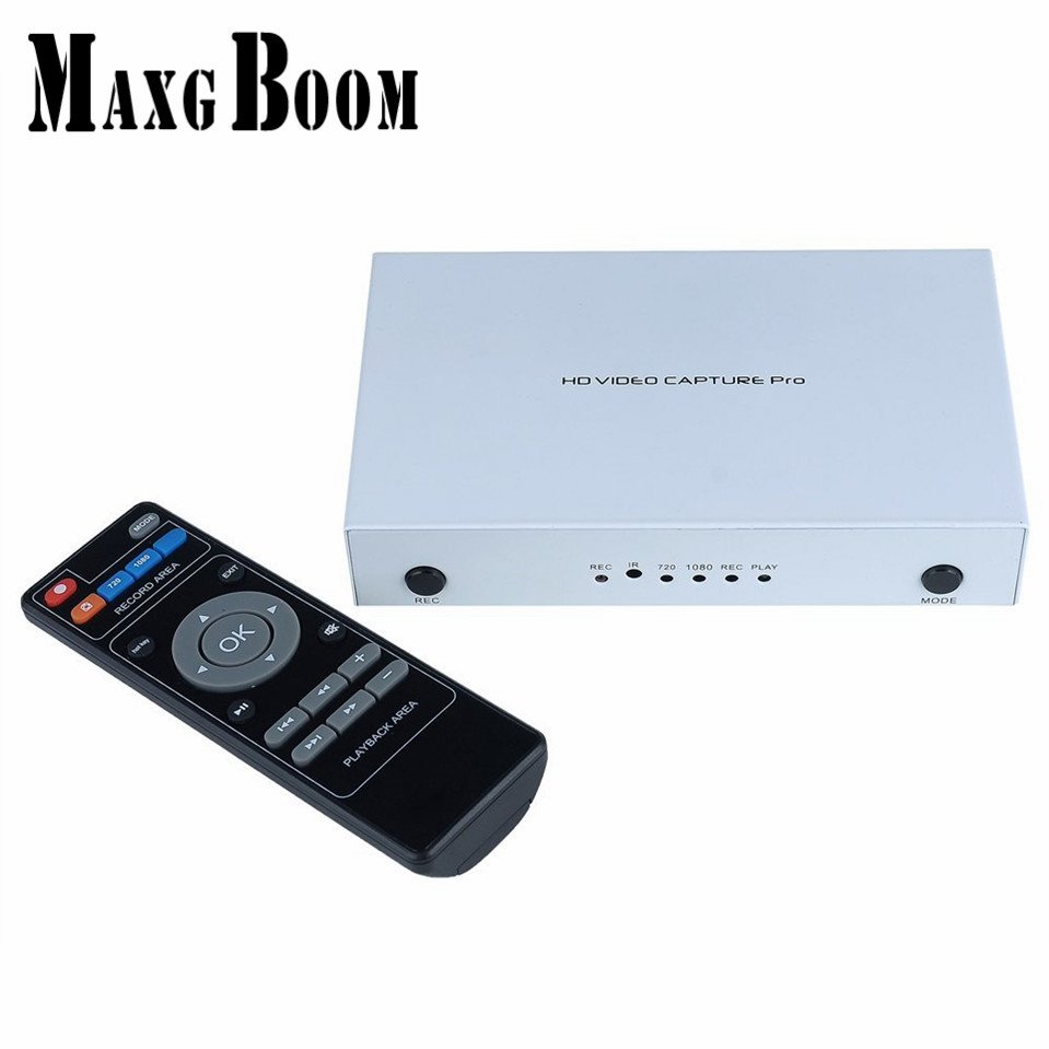 MaxgBoon Ezcap291 1080P HD Video Game Capture HDMI/YPpbr/CVBS Recorder with Playback For XBOX PS3 PS4 TV STB Free Shipping
