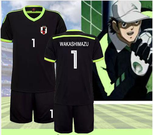 Anime Captain Tsubasa Ozora Tsubasa Short Sleeved Football Suit Jersey Cosplay Costume Sportswear