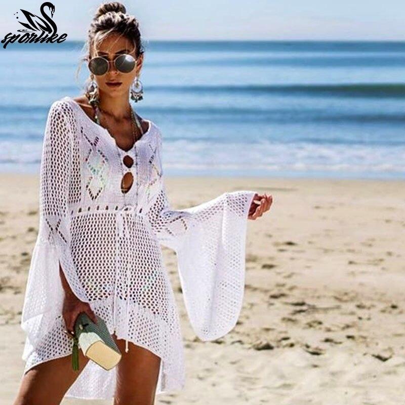 71d0f0b946 DIPOLA Dress of Women Women Chiffon Swimwear Pareo Scarf Beach Cover Up  Wrap Kaftan Sarong Dresses