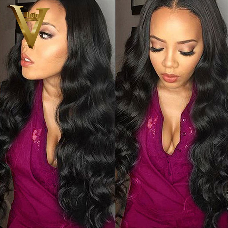 Full Lace Human Hair Wigs For Black Women Body Wave