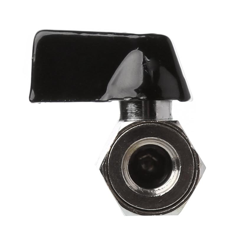 Water Valve Brass Mini Ball Valve 1//8 BSP Male to Female Thread Air Compressor Hose