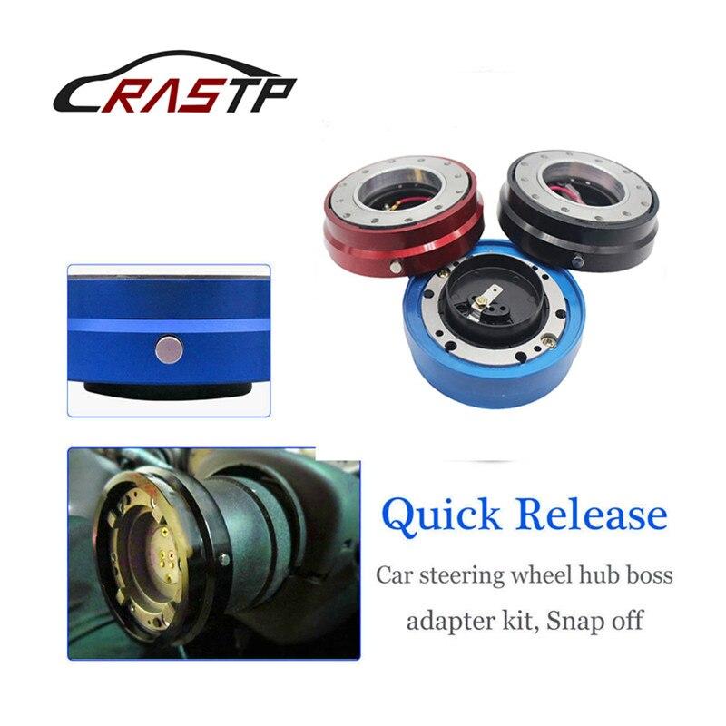 RASTP-Universal Car Steering Wheel Quick Release Hub Racing Adapter Snap Off Boss Kit RS-QR003