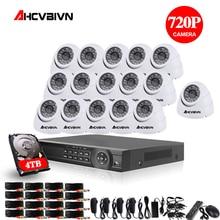 AHD CCTV Sistemi 16CH DVR Kiti 16 Kanal 1080 P DVR Ile IR Gündüz Gece 2000TVL Güvenlik Dome güvenlik kamerası Video gözetim Sistemi