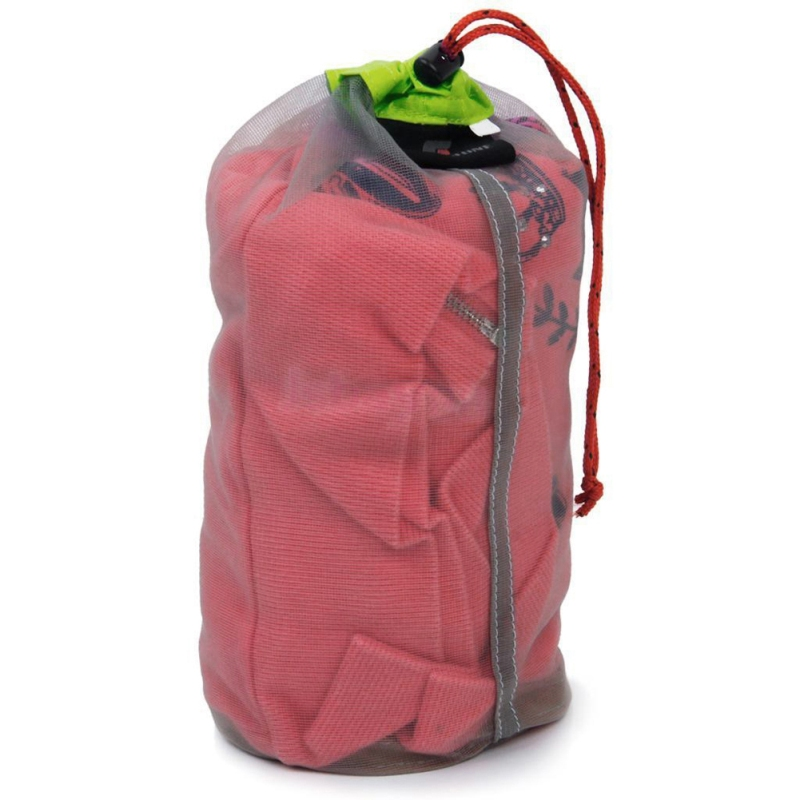 Ultralight Mesh Stuff Sack Outdoor Camping Storage Bag Portable Mesh Bag Sports Travel Stuff Pouch Drawstring Clothing Organizer