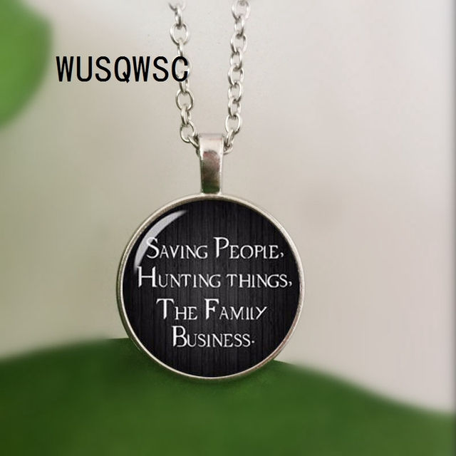 Wusqwsc Hot Supernatural Necklace Saving People Hunting Things