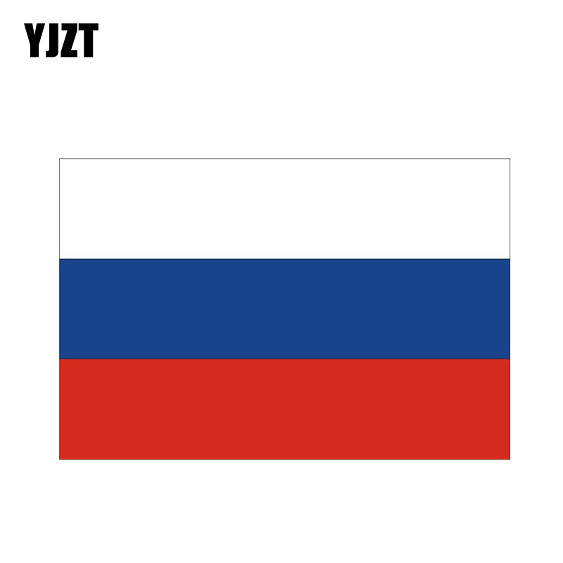 YJZT 10.2CM*6.8CM Personality Body Car Sticker Moto Russia Flag Decal PVC 6-0178