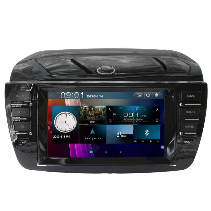 Bottom Price Car Multimedia For Fiat For Doblo 2008 2009 2010 2011 2012With CD Player GPS