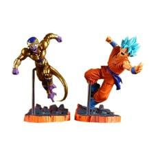 Dragon Ball Z Super Saiyan Goku Son Freeza Freezer Ultimate Form Anime Combat Edition PVC Action Figure Collectible Toys #F