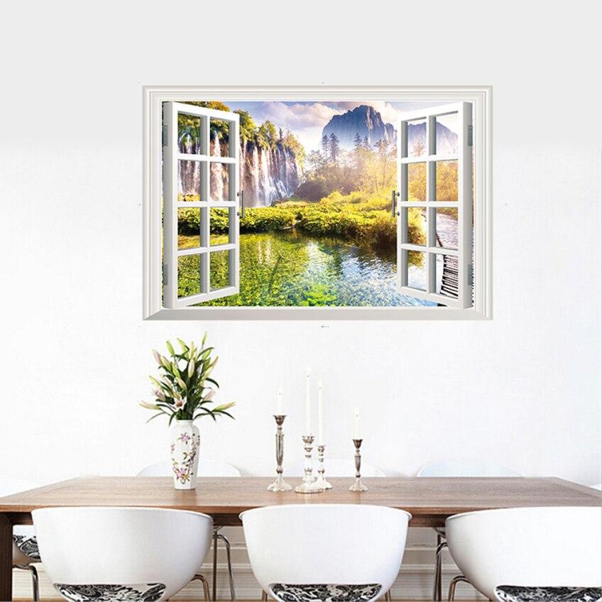 60 90cm 3d Window View Art Home Decor Wall Sticker