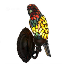 Vintage Stained Glass Bird Parrot Led Light For Room On The Wall Lighted Bedside Deco Bed Headboard Lamp Living