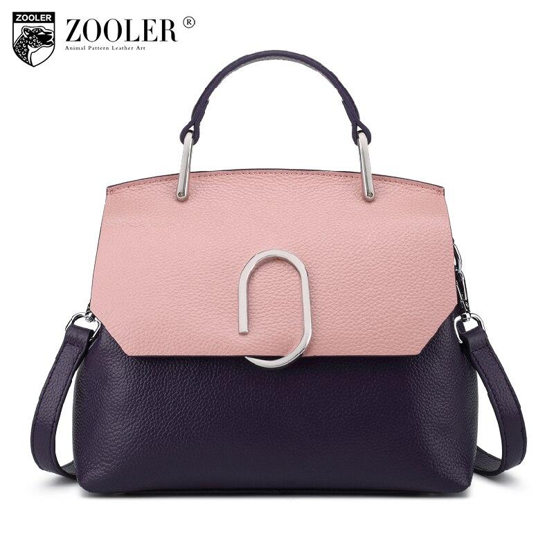 ZOOLER 0 Profit Genuine Leather Shell Bag Shoulder Messenger Bags Lady Stylish Cowhide Women Bag Designer