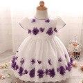 3 цвета Свадебные платья для маленьких девочек с цветок детские party dress 0-24mprincess tutucostumes для детей party dress girls