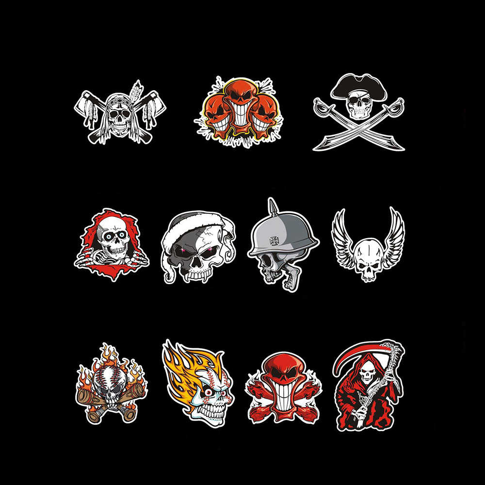 Reflective skull wildfire head ghost rider car stickers funny decals for ford vw skoda polo golf