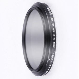 Image 2 - 49mm ND2 400 Neutral Density Fader Variable ND filter Adjustable for Canon EOS M5 M6 M10 M50 M100 M200 with 15 45mm lens