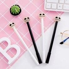 30 pièces Super Cool nuit lumière crâne neutre 0.5 noir étudiant neutre stylo en gros personnalisé fabricant papeterie en gros