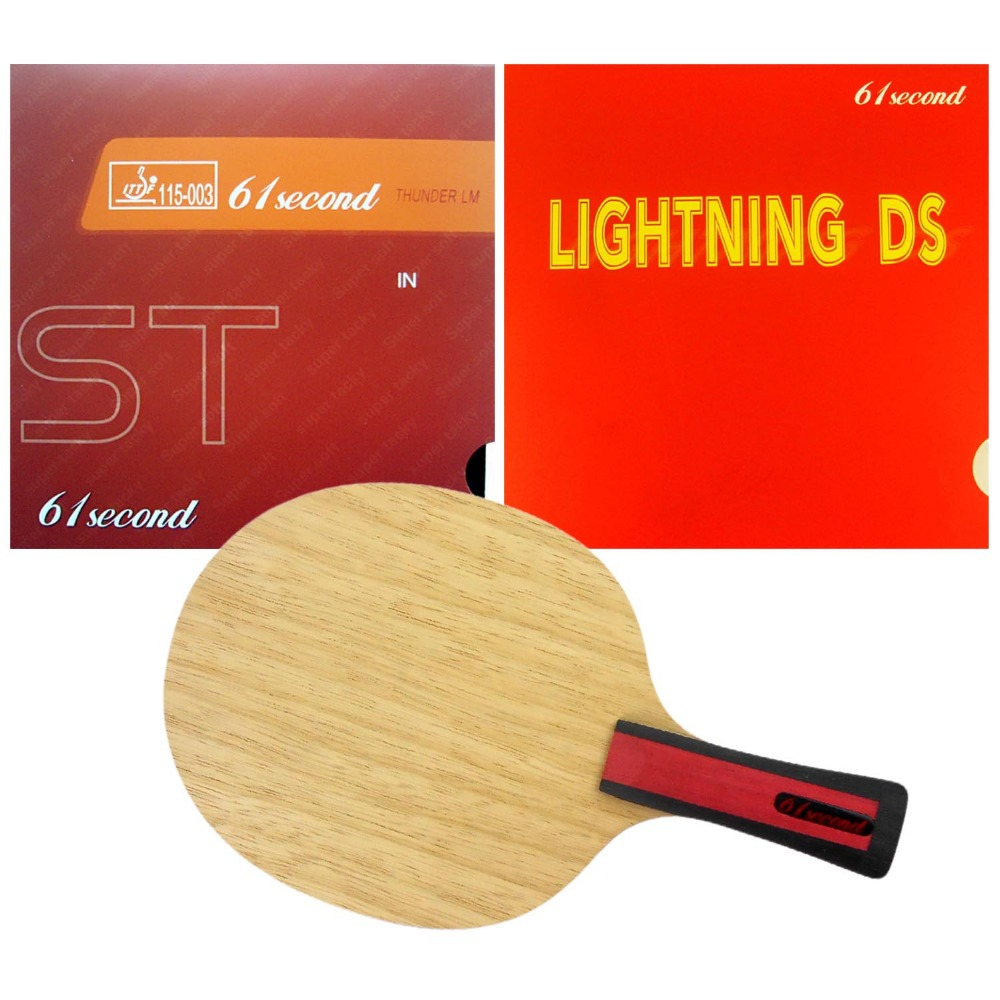 ФОТО Pro Table Tennis PingPong Combo Racket  61second 3004 with 61second Lightning DS and LM ST Long Shakehand-FL