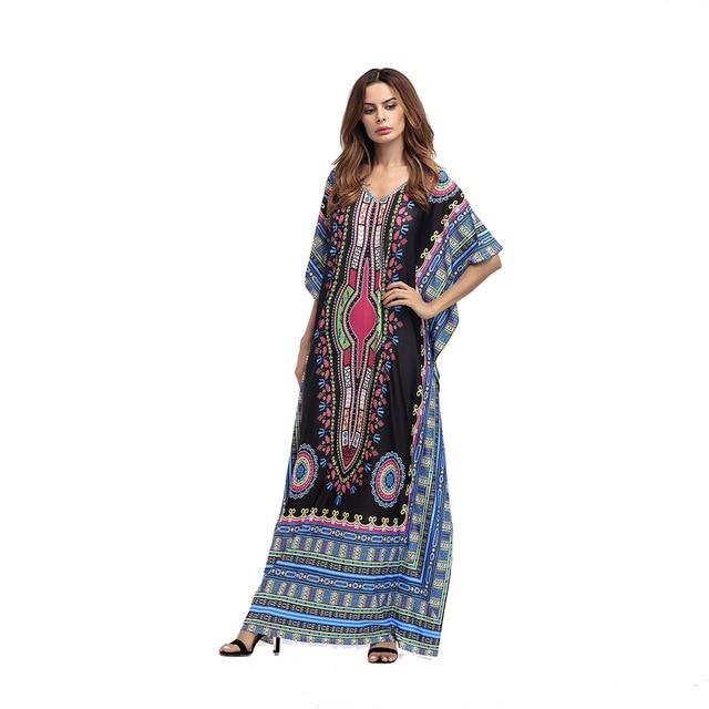 f3fefe78c881 Vestito dashiki african women maxi long Estate Etnico Dashiki Dress Robe  Tradizionale Africana Abiti Lunghi Maxi