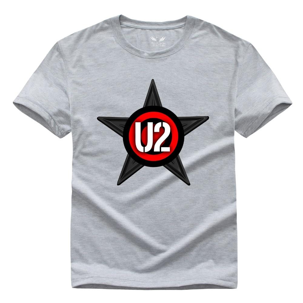 Envío libre Irlanda banda U2 camiseta hip hop camiseta pop rock band manga  corta Camiseta de algodón camisa XS-XXL bfc3fb374fca8