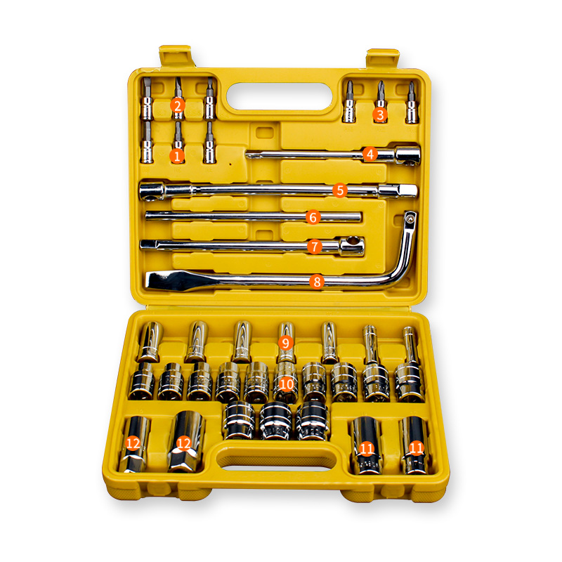 38pcs Tool Combination Torque Wrench Bicycle Car Repair Tool Set Ratchet Socket Spanner Mechanics Tool Kits car repair tool 46 unids mx demel 1 4 inch socket car repair set ratchet tool torque wrench tools combo car repair tool kit set