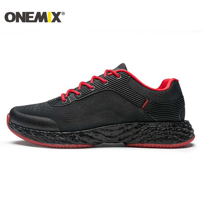 Onemix Man Running Shoes for Men Black Mesh Air Sole Cushion Breathable Designer Jogging Sneakers Outdoor Sport Walking Trainers 2017 spring summer running shoes for men brand walking sneakers mesh breathable mens trainers jogging sport shoes cheap zapatos