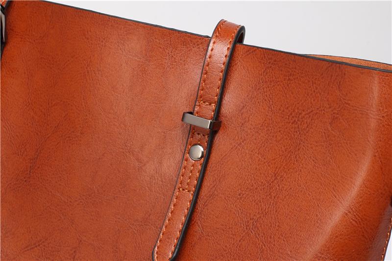 DIDA BEAR Brand Women Leather Handbags Lady Large Tote Bag Female Pu Shoulder Bags Bolsas Femininas Sac A Main Brown Black Red 16